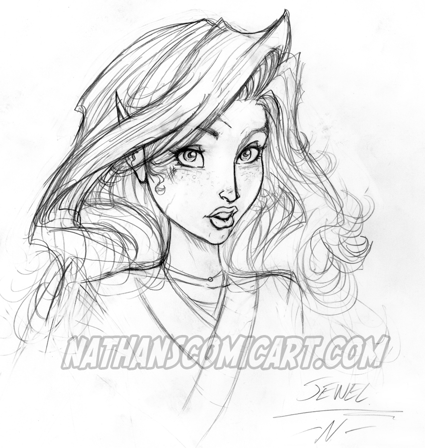 JEWEL SKETCH 001 by nathanscomicart