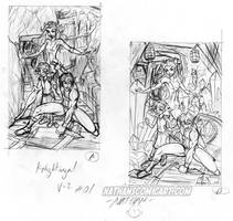 Knightingail vol 2 COVER 1 LAYOUTS DA by nathanscomicart