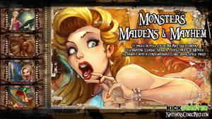 Monsters, Maidens and Mayhem KICKSTARTER preview