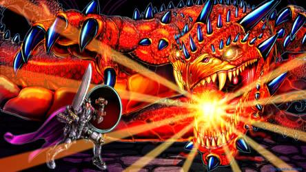 Knight Vs Dragon by Neal-Akuma