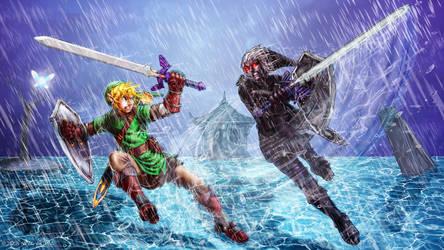 Link V Dark Link by Neal-Akuma