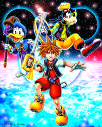 Kingdom Hearts -fan art by Neal-Akuma