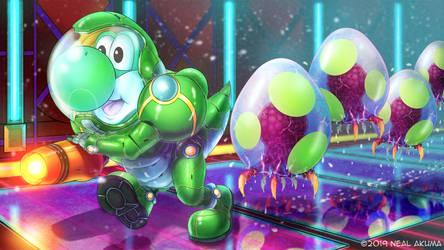 Yoshi X Metroid fan art