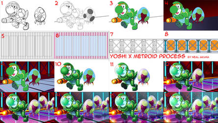 Yoshi  X Metroid Process Walkthrough by Neal-Akuma