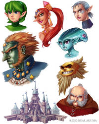 Zelda: Ocarina of Time - background elements