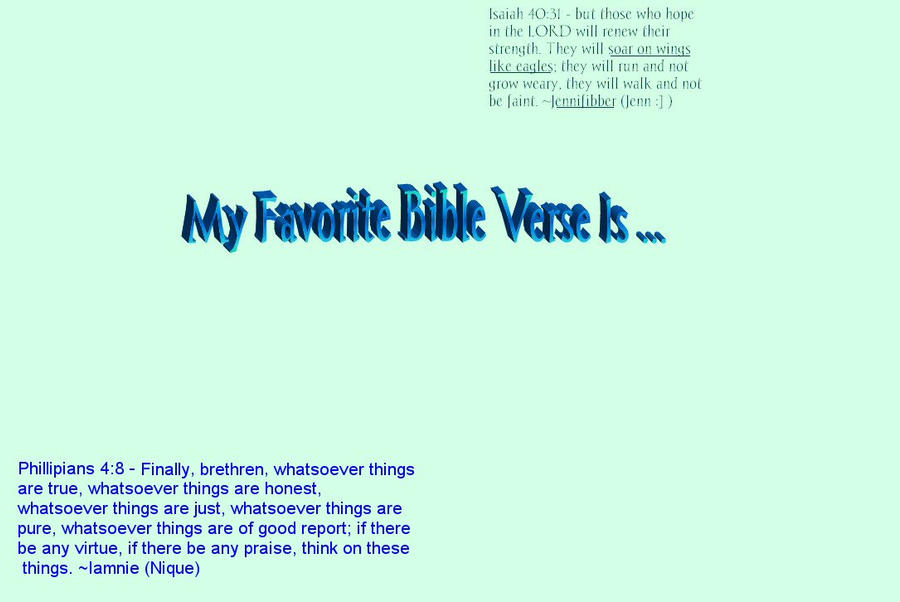 My Favorite Bible Verse by iamniquey