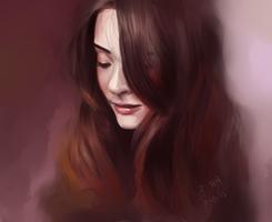 Brunette - Paint Sketch 2013-7-19 by iamniquey