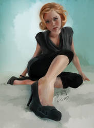 Sitting in Perspective - Paint Sketch 2013-08-11