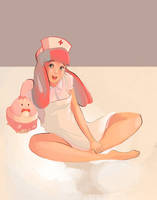 Nurse Joy and Happiny by SamanthaMusticone