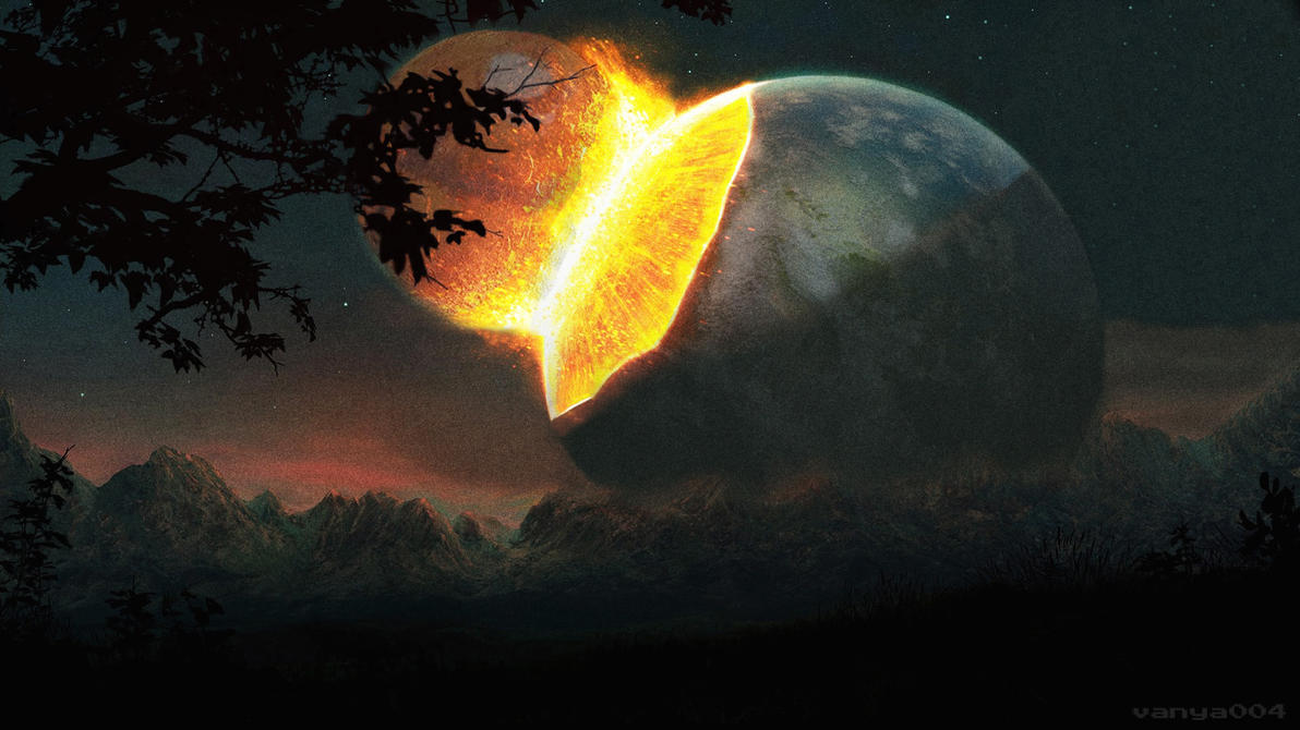 Earth and Mars Collision by Vanya004 on DeviantArt