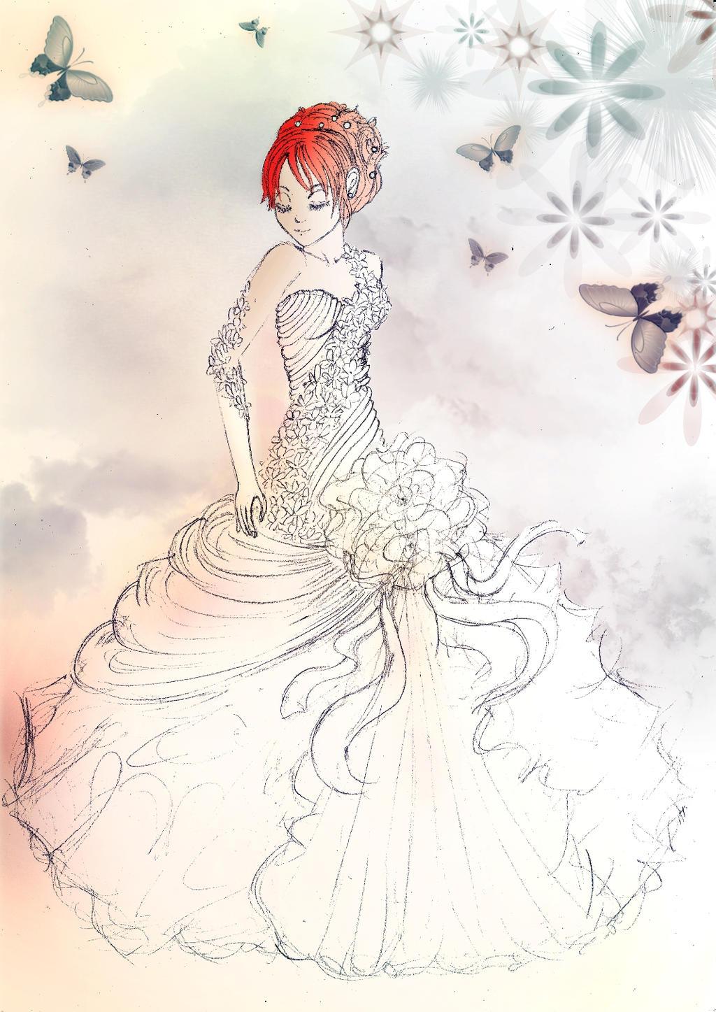 OP Wedding Dress By Cherryyy09 On DeviantArt - Anime Wedding Dress