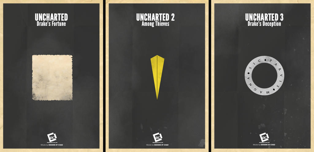 Uncharted Trilogy Minimal Posters By Chadski51