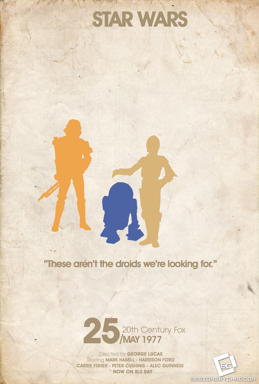 Star Wars Minimal Poster by Chadski51
