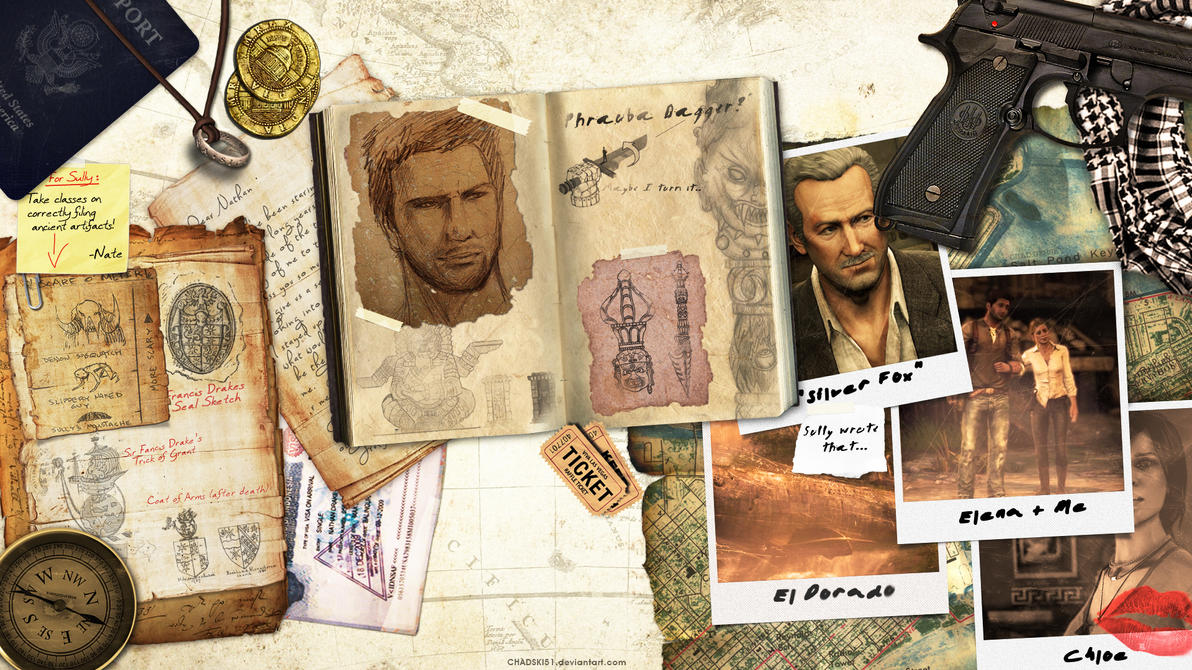 Uncharted Desktop Wallpaper by Chadski51