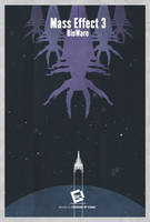 Mass Effect 3 Minimal Poster by Chadski51