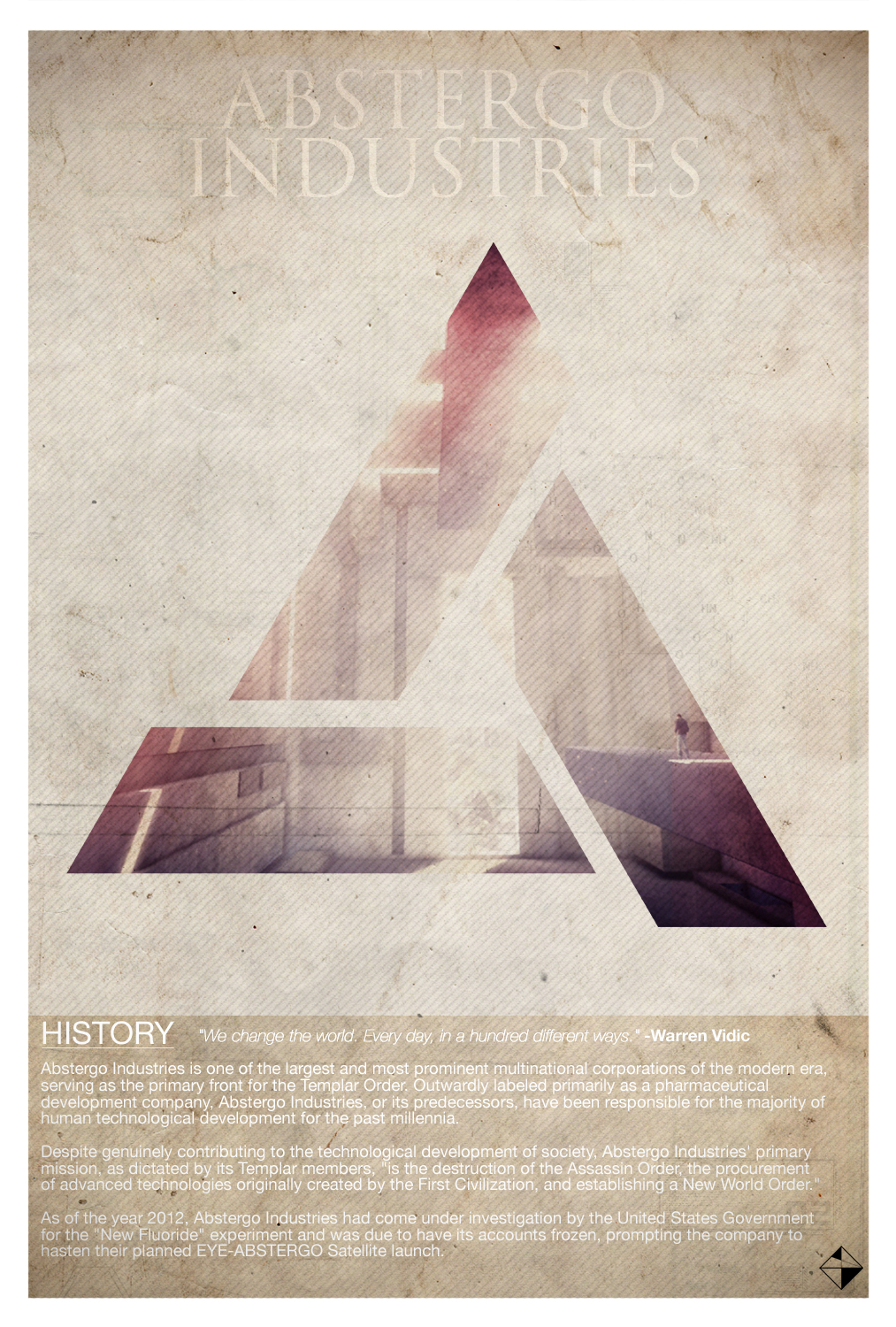 Assassin's Creed Abstergo Ind. Retro Poster by Chadski51