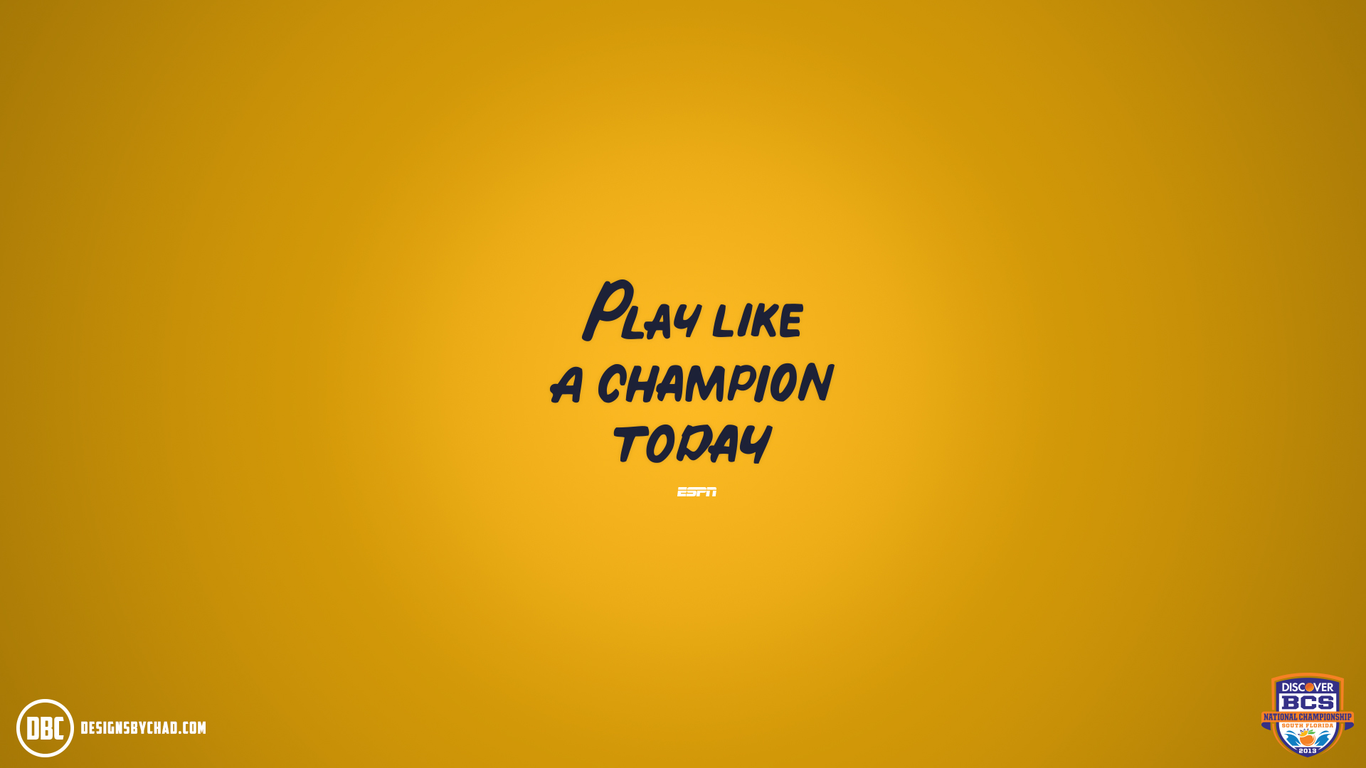 Play Like A Champ Today Notre Dame Wallpaper