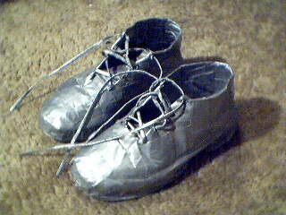 Duct tape shoes by ducttapetom