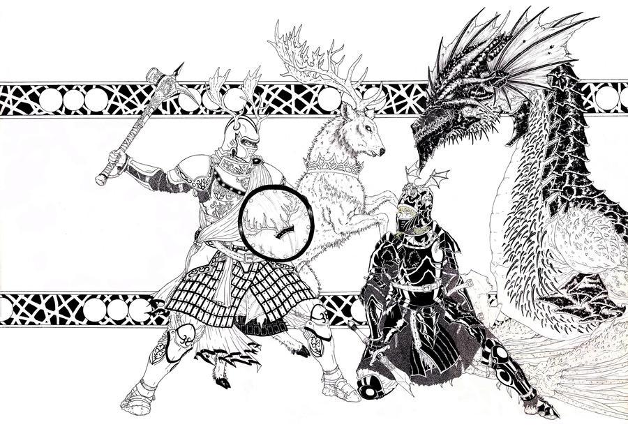 Robert Baratheon v/s Rhaegar Targaryen by PABLORCO