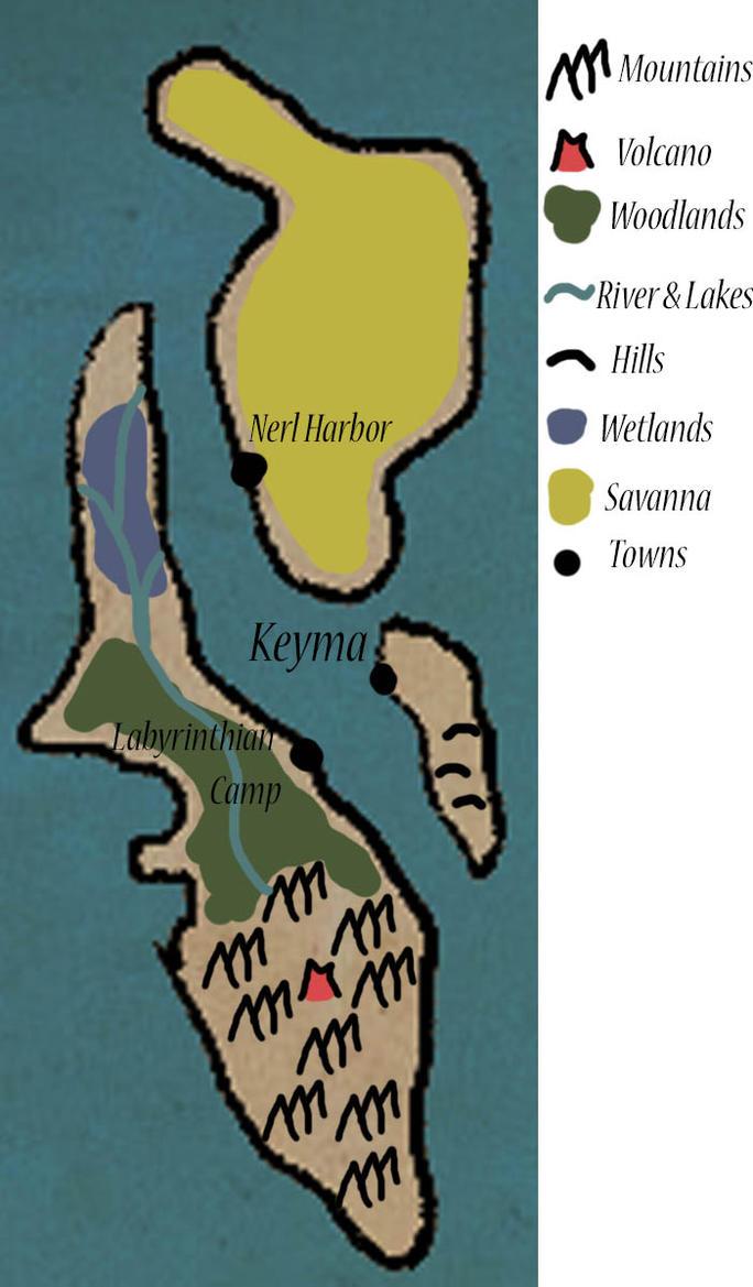 Map of Keyma - Pokemon Reign by Pkmn-Freak