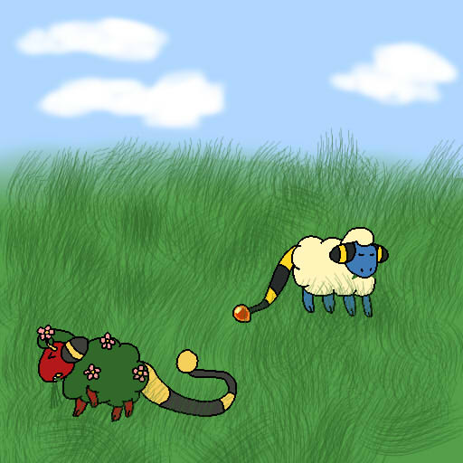 Dragon's Rise Festival: Sheep be eating the grass by Pkmn-Freak