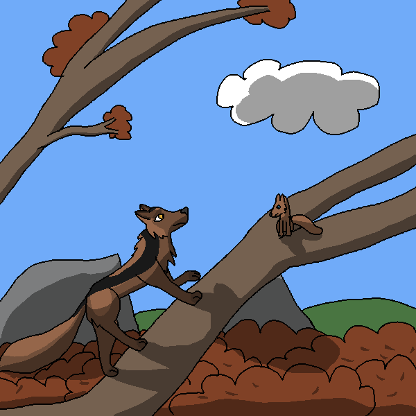 Climbing a tree (Hashibami - San Prompt 1) by Pkmn-Freak