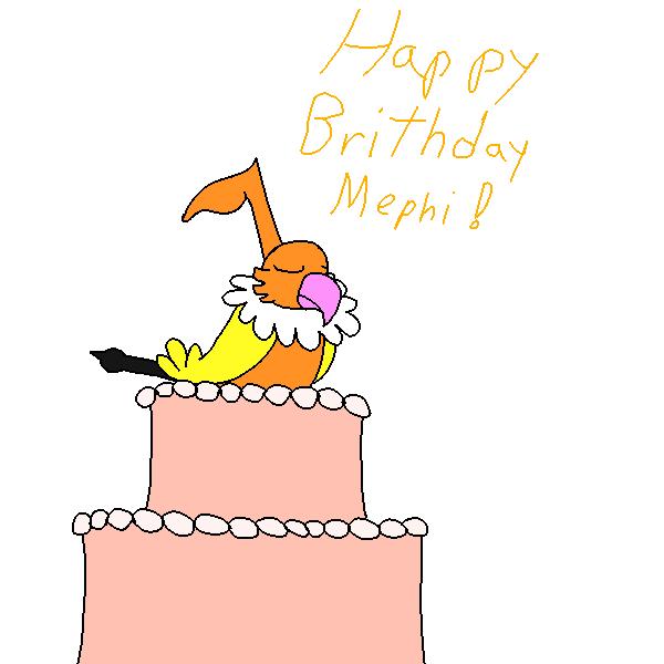 Happy B-Day Mephi by Pkmn-Freak