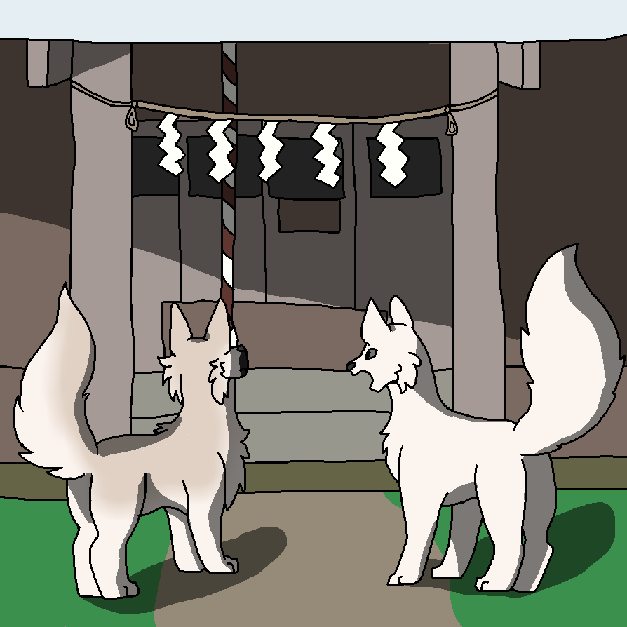 A nice visit to the shrine by Pkmn-Freak