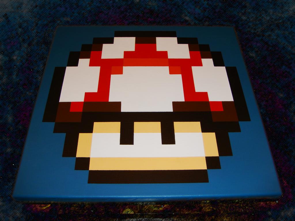 Super Mario Power-Up Mushroom by nintentofu