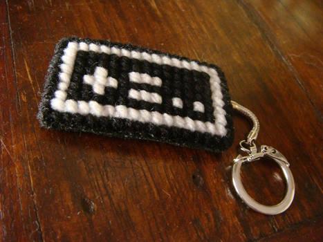 [+=..] nes controller yarn stitched keychain