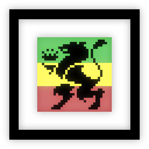 tribe of kings - pixelated logo w/ frame by nintentofu
