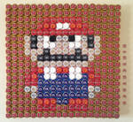 Super Mario World - Beer Bottle Cap Mosaic Art by nintentofu