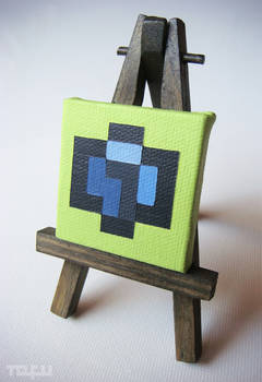 a micro blue isometric voxel