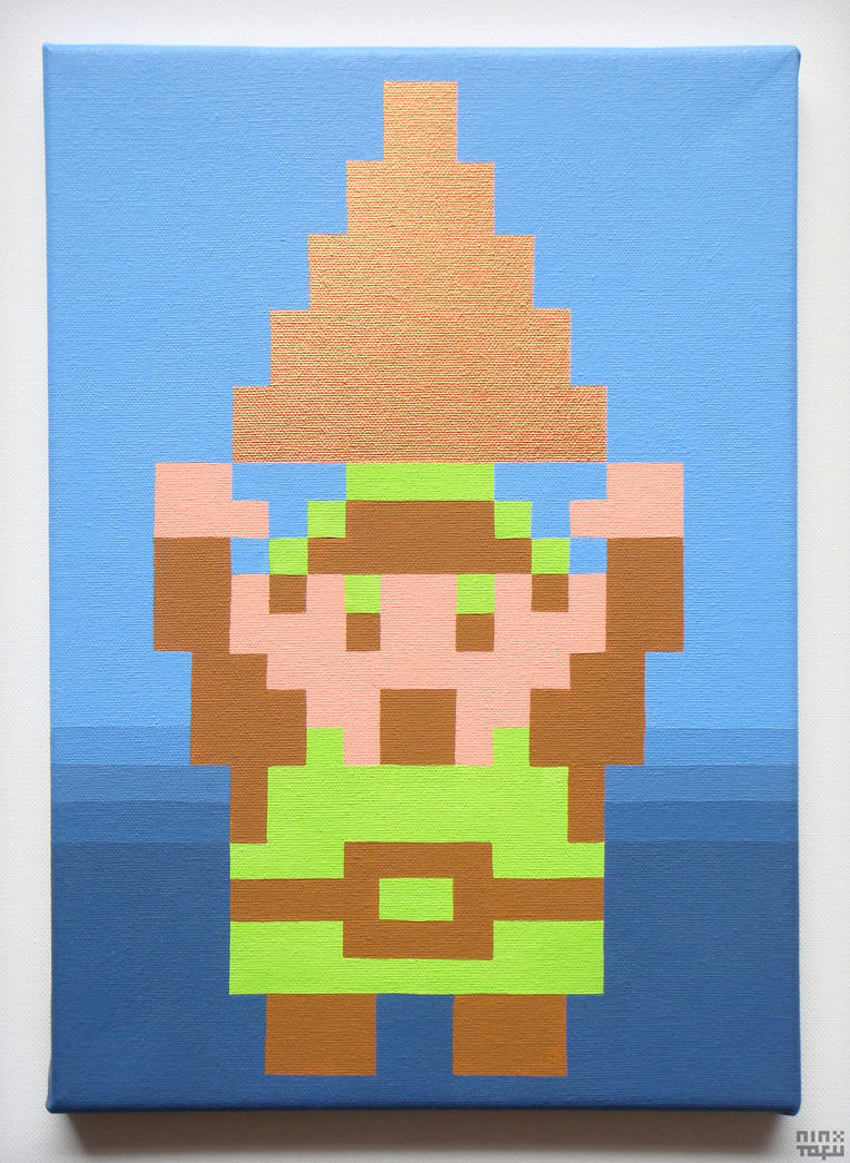 [NES] Legend of Zelda - Link Gaining the Triforce! by nintentofu