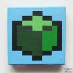 mini green voxel, up close.. @_@