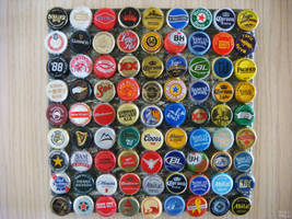Recycled Bottle Cap Mosaic