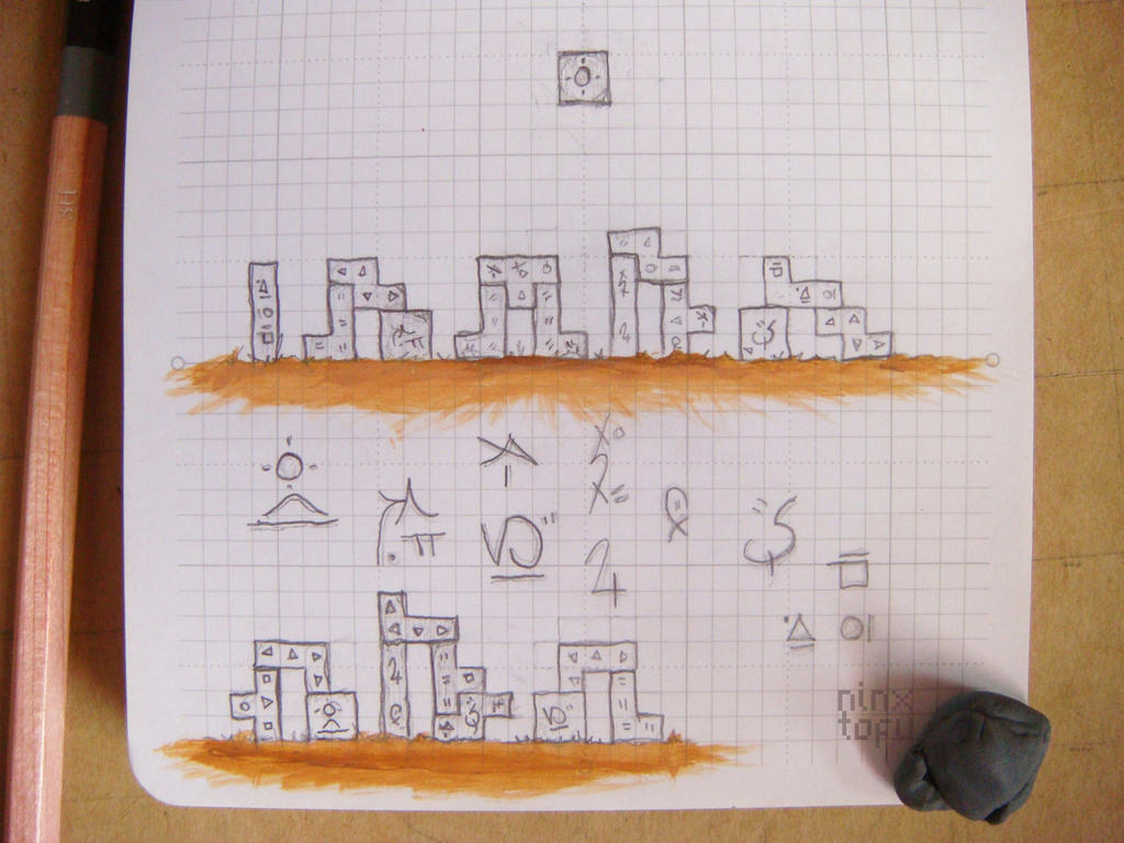 [wip] Tetris-hedge | doodles by nintentofu