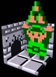 [tres-d voxel] Legend of Zelda - Link w/ Triforce