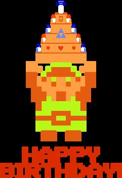 Legend of Zelda - Link and Birthday Cake!