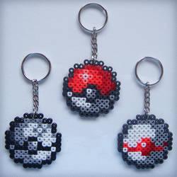 Pokemon Pokeball Beaded Keychains