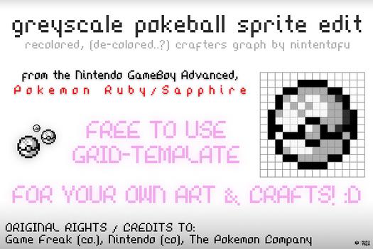 Pokemon Greyscale Pokeball Sprite Crafters Grid