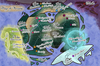 Updated Arcania World Map