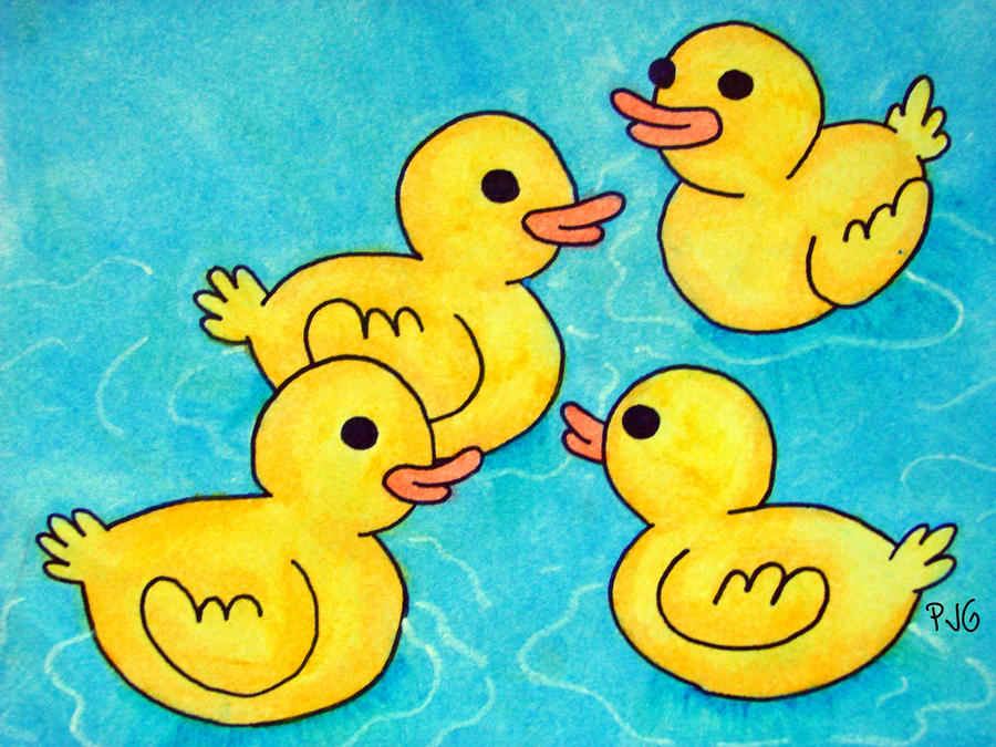 A Bunch of Baby Ducks by PennySamson