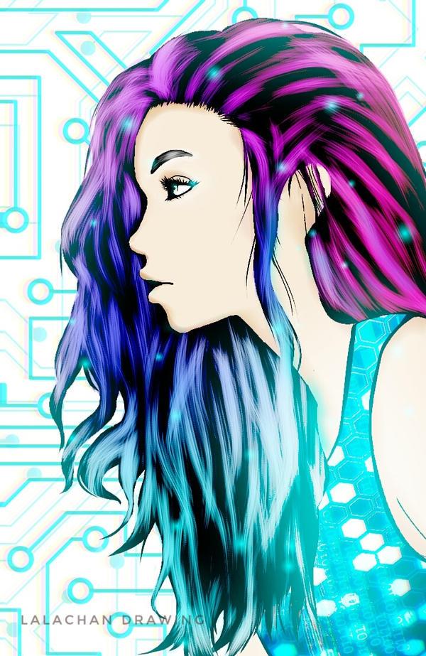 Digital Glow by LalachanDrawing