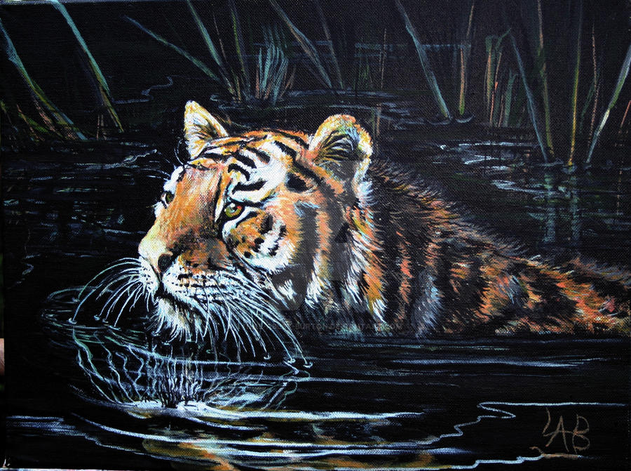 Keeping cool acrylic painting by lynne abley burton on for Cool acrylic painting ideas