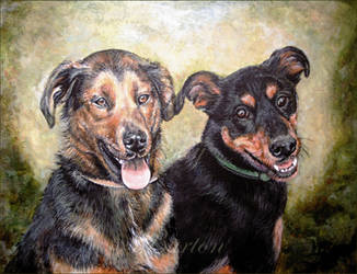 Max and Ally painting by Lynne-Abley-Burton