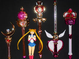 Sailor Moon Stick and Rod Gashapon by MoonCollectar