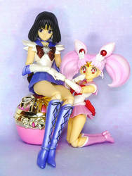 Sailor Moon S.H. Figuarts - Chibi-Moon, Saturn by MoonCollectar