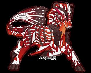 Red Kirin Symphysodon by Monstaria