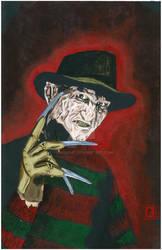 Freddy Krueger by Josh Simon by JSimonART